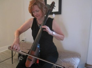 Paula playing cello