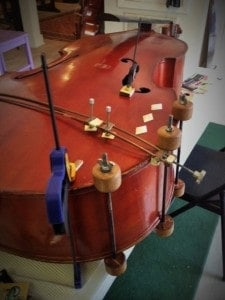 Upright bass repair