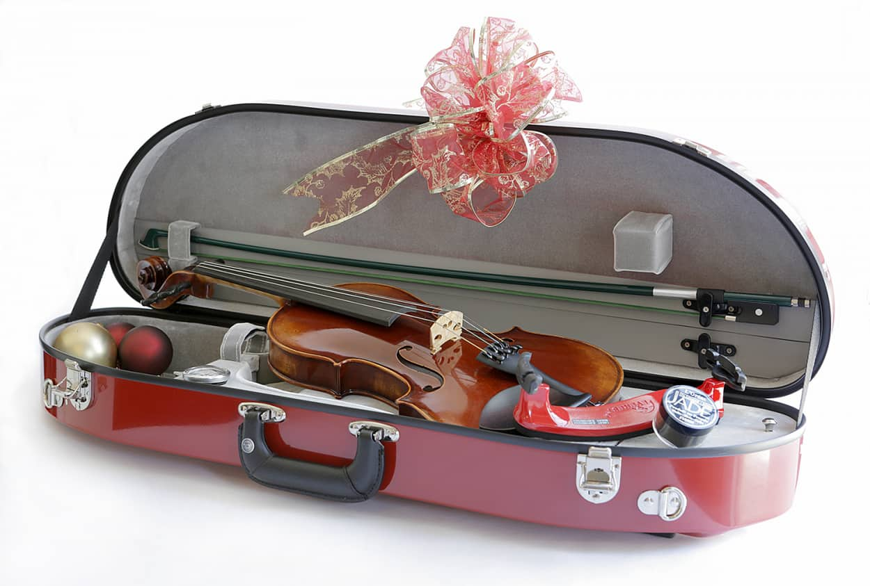 Violin Case red