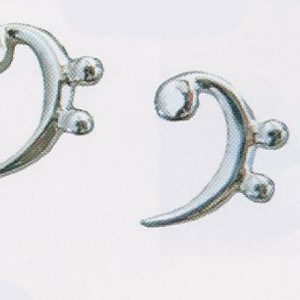 Sterling Silver Bass Clef Earrings