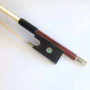 Siqueira Half Mounted Nickel Silver Violin Bow