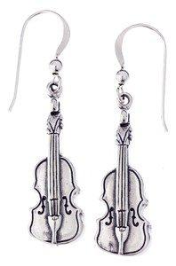 Sterling Silver Music Earrings