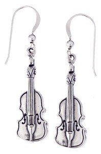 Sterling Silver Music Earrings