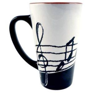 Music Notes Latte Mug