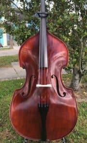 Knilling Bucharest Gamba Style Flat Back Bass 3/4 Size