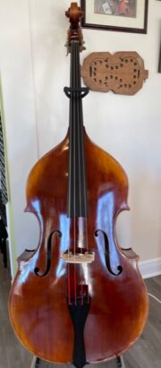 New Orleans Private Label Symphony Model Bienville Bass Fully Carved 3/4 Size Front